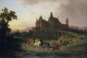 Oil Painting Handpainted On Canvas The Return Of King Matthias From Hunting