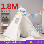 1.8m Tents Playhouse Kids Cotton Canva Indian Play Tent Child Little Teepee Room