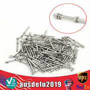 100 X Stainless Steel Cable Railing Kits Fit 3/16 Wire Rope Outdoor Stair Us