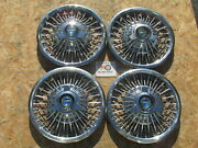 1965 66 67 Ford Mustang Fairlane 14 Wire Spinner Wheel Covers Hubcaps Set Of 4
