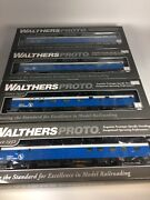 Walthers Great Northern Sky Lighted Blue Passenger Car Set 8 Cars