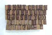 43 Letterpress Wood/wooden Hand-carved Matrices For Type Englishwmt82