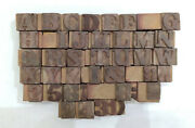 38 Letterpress Wood/wooden Hand-carved Matrices For Type Englishwmt86