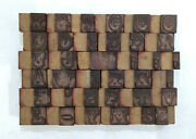 36 Letterpress Wood/wooden Hand-carved Matrices For Type Englishwmt87