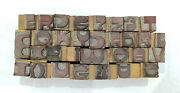 32 Letterpress Wood/wooden Hand-carved Matrices For Type Englishwmt91