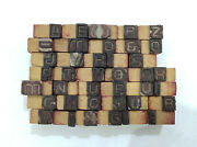40 Letterpress Wood/wooden Hand-carved Matrices For Type Englishwmt94