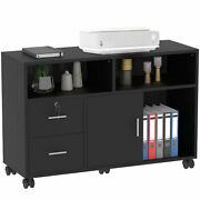 Yitahome Filing Cabinet Home Office Lateral File Wood 2 Drawer Storage Organizer