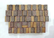 34 Letterpress Wood/wooden Hand-carved Matrices For Type Englishwmt95