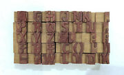 35 Letterpress Wood/wooden Hand-carved Matrices For Type Englishwmt96