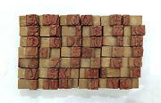 43 Letterpress Wood/wooden Hand-carved Matrices For Type Englishwmt97