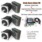 3axis 1kw Ac Servo Motor Nema34 4nm Drive Rs485 And Offline Controller For Milling