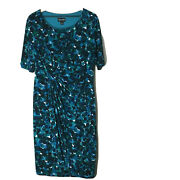 Connected Vintage Teal And Black Dress Womenand039s Plus Size 16
