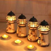Lighthouse Lights Mediterranean-style Iron Lamps Holiday Candlesticks Home Weddi