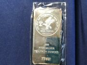 1976 Tri-state Refining And Investment 10 Ounce Silver Bar Sealed New Bu E8210
