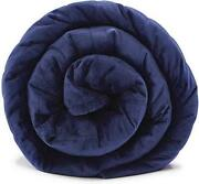 Laveder Plush Weighted Blanket King Size 25lbs80and039and039x87and039and039navy Assorted Sizes
