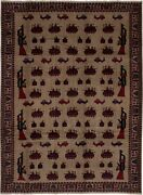 Vintage Hand-knotted Carpet 6and03911 X 9and0394 Traditional Oriental Wool Area Rug
