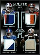 Quad Rookie Jersey Patch Rc /25 Limited Mike Evans Odell Beckham Jr Cooks Watkin