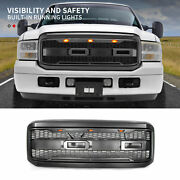 Fit 2005-2007 Ford F250 F350 Super Duty Grille Front Grill Bumper W/ledsandletters