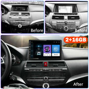 For 08-13 Honda Accord 10.1 Android 10.1 Car Stereo Radio Player Gps 2+16gb Pro