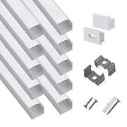 Hunhun 10-pack 6.6ft/ 2meter Plus-size U Shape Led Aluminum Channel System With
