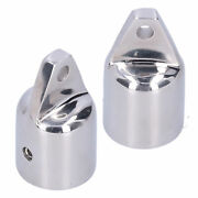 2pcs Bimini Eye End Cap Accessories Stainless Steel For 1in Od Round Tube