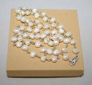 Silpada Sterling Silver 32 Freshwater Pearl Fresh Catch Necklace N1368