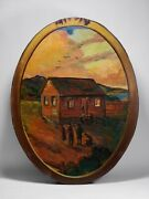 Historic California Painting By William Wilke - San Franciscoand039s 1st Schoolhouse