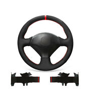 Black Suede Car Steering Wheel Cover For Honda S2000 Civic Si Insight For Acura