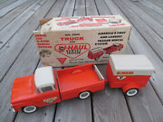 Nice Original Nylint Uhaul Ford Pickup Truck And Trailer With Orig Box 1965 4100