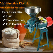 1500w Electric Feed/flour Mill Dry Cereals Grinder Machine Rice Corn Grain 220v