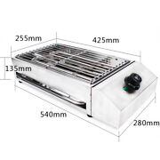 Electric Grill Table Top Bbq Barbecue Indoor/outdoor Smokeless Griddle W/ Pan Us