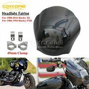 For Harley 95-05 Dyna Super Glide Fxd Xl Abs Quarter Fairing W/ 49mm Mount Clamp