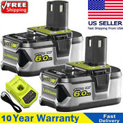 Battery / Charger For Ryobi P108 18v 18 Volt One+ Plus High Capacity Lithium-ion