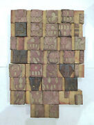 36 Letterpress Wood/wooden Hand-carved Matrices For Type Englishwmt61