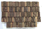 36 Letterpress Wood/wooden Hand-carved Matrices For Type Englishwmt63