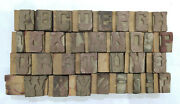 31 Letterpress Wood/wooden Hand-carved Matrices For Type Englishwmt64