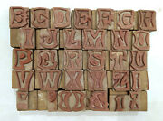 35 Letterpress Wood/wooden Hand-carved Matrices For Type Englishwmt65