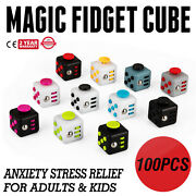 100pcs Magic Fidget Cube Anxiety Stress Relief Gift Adult Kid Focus Local Click