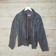 Supernatural Dean Winchester Wilsons Brown Leather Distressed Coat Jacket Large