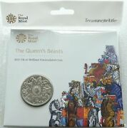 2021 Royal Mint Queens Beasts Completer Bu £5 Five Pound Coin Pack Sealed