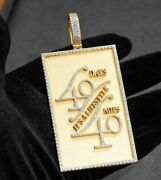 1.6 Ct Round Simulated Diamond Menand039s Dog Tag Name Pendant 14k Yellow Gold Plated