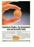 1989 American Eagle Gold And Silver Bullion Coins Vintage Print Advertisement