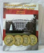 U.s. Presidential Dollars 2013-2016 New Coin Collector's Album Volume 2