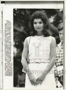 1972 Press Photo Jacqueline Kennedy Onassis At Arlington National Cemetery