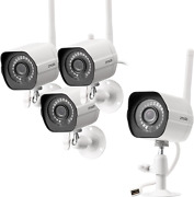 Zmodo Outdoor Security Camera 4 Pack 1080p Full Hd Wireless Cameras For Home