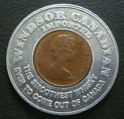 1966 Encased Penny Canada Whiskey Cent Windsor Canadian Imported Whisky Ontario