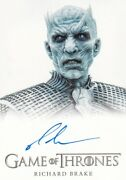 Game Of Thrones Full Bleed Autograph Card Signed By Richard Brake As Night King