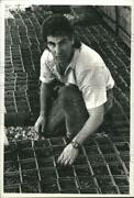 1992 Press Photo Shady Acres Nursery Owner Assesses Weather Damage To His Stock