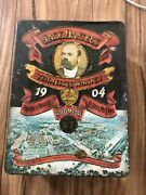 Vintage Jack Daniels Tennessee Whiskey 1904 Lithographed Tin Box Has Dents