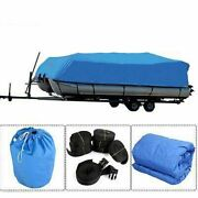 21-24ft 600d Oxford Fabric High Quality Waterproof Boat Cover / Storage Bag Blue
